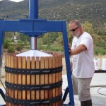 basket press winemaking old school