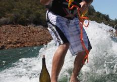 Kevin Bottle Skiiing